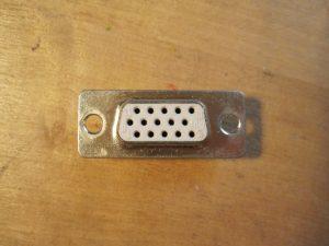 Kettenanhäger aus VGA - Buchse (Bildschirmanschluss)